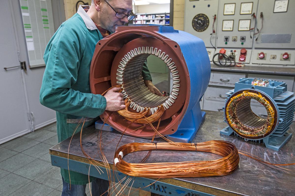 Piessens Electro Industrie - Herwikkelen van motoren - Boninage 2