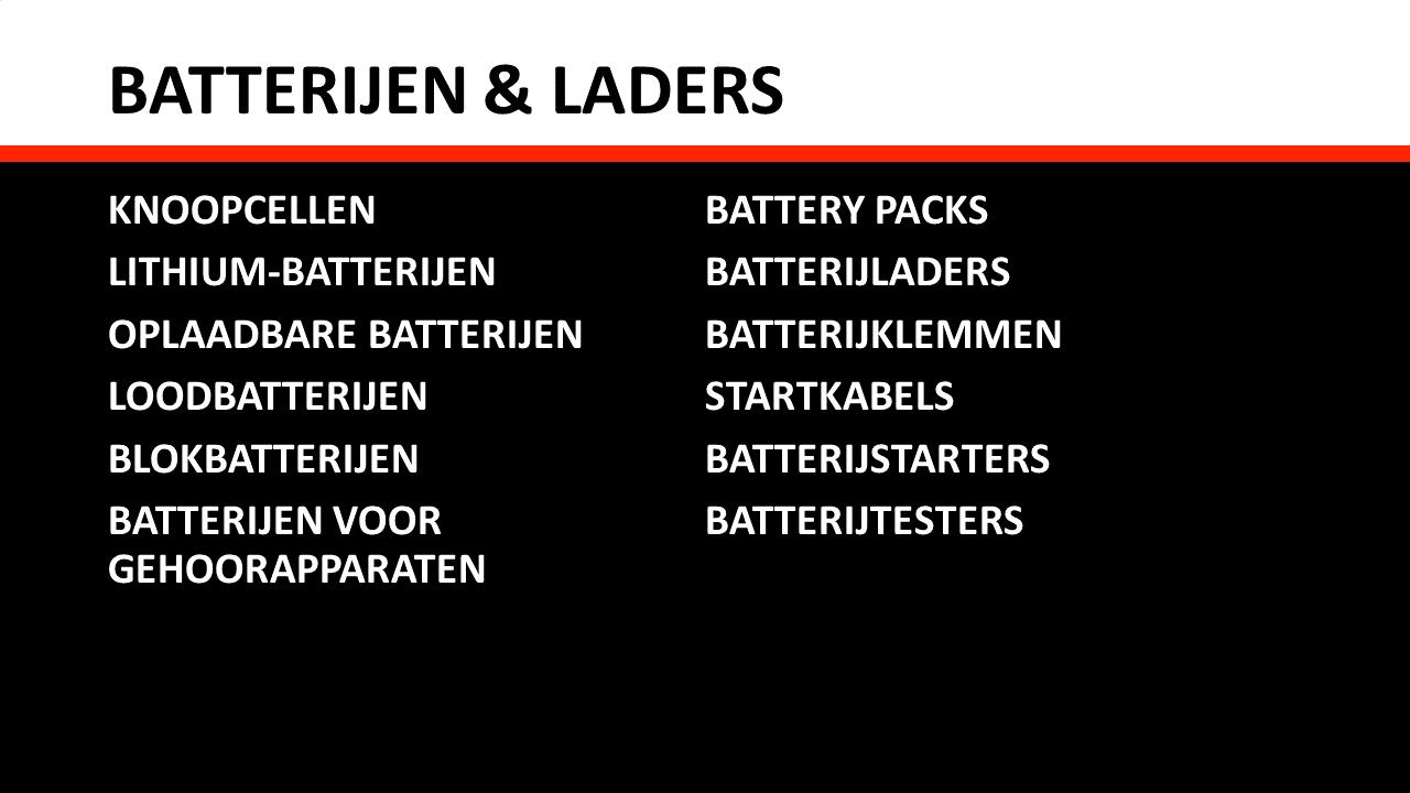 Schakel- & installatiemateriaal - Batterijen & laders