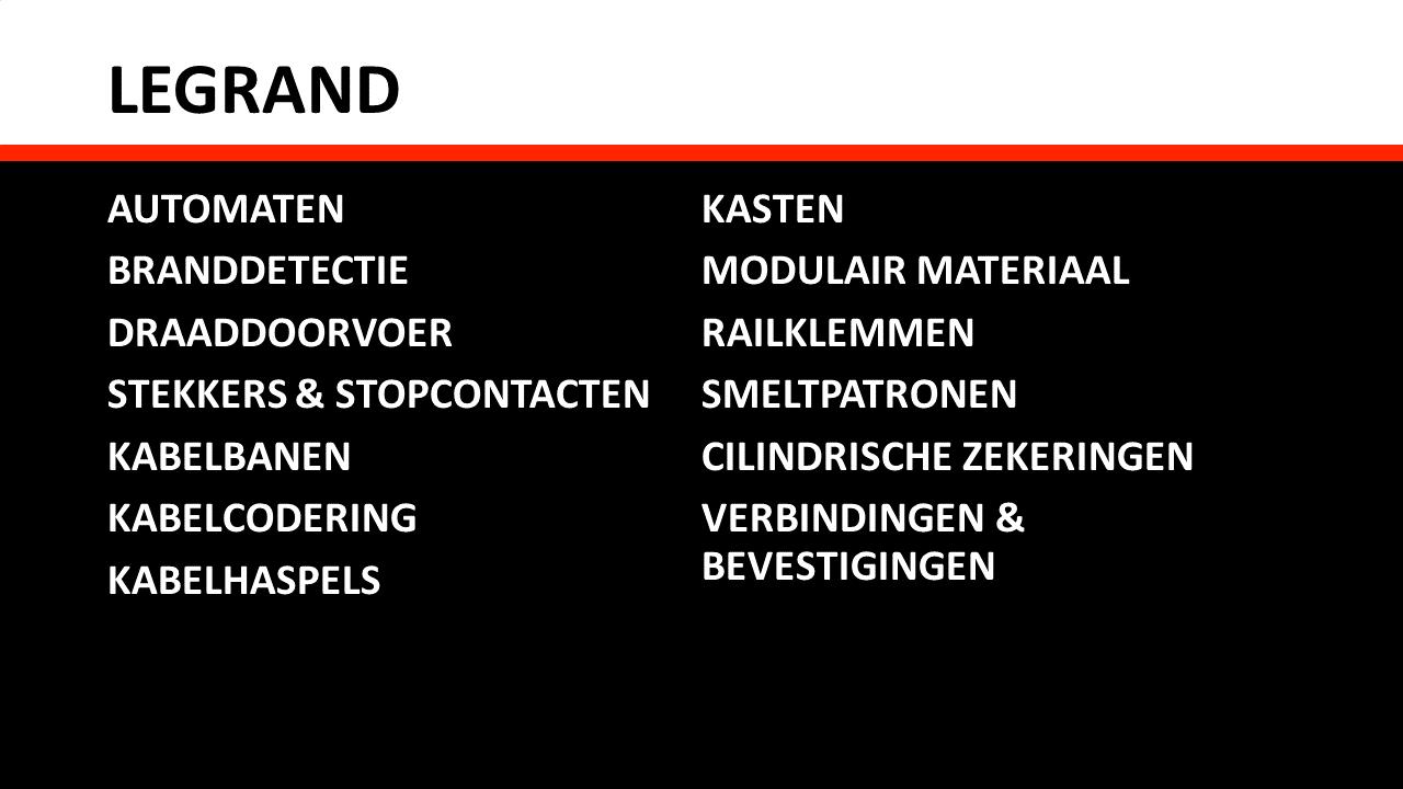 Schakel- & installatiemateriaal - Legrand