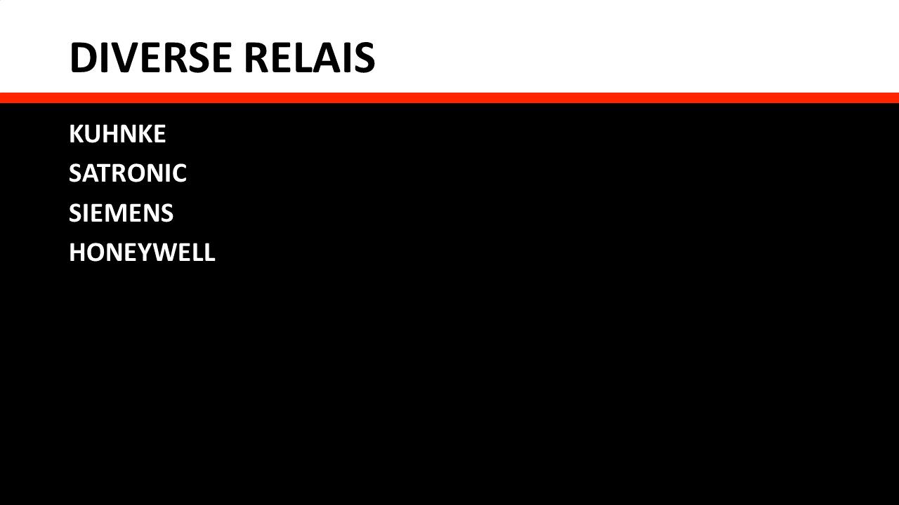 Schakel- & Installatiemateriaal - Diverse relais
