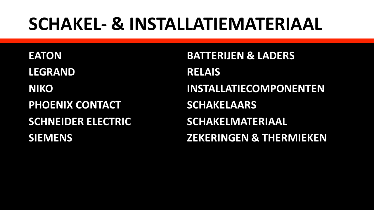 Piessens Electro Industrie - Elektrische componenten - Schakelmateriaal & installatiemateriaal