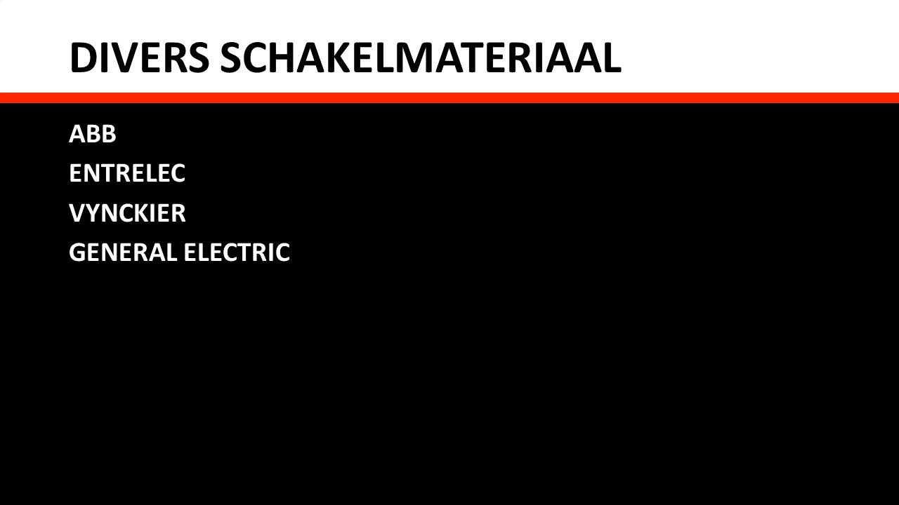 Schakel- & Installatiemateriaal - Divers schakelmateriaal