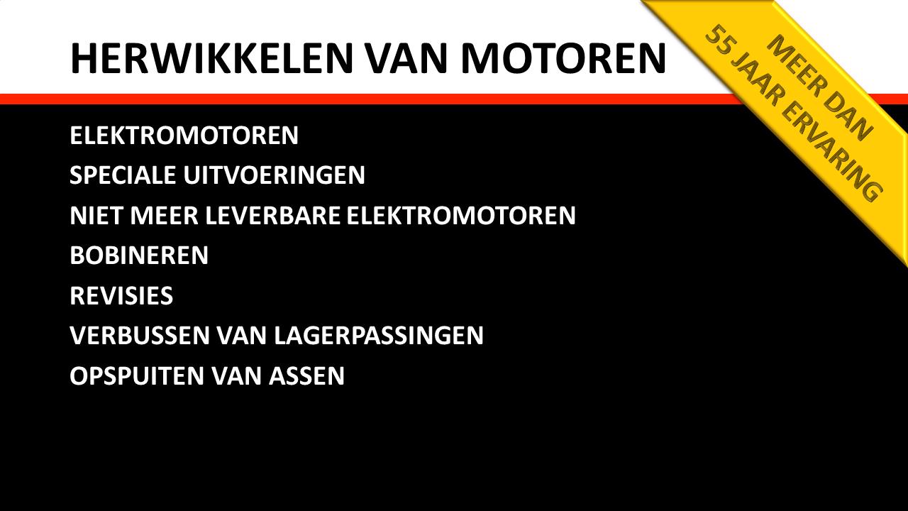 Herstelling & Onderhoud - Herwikkelen van elektromotoren
