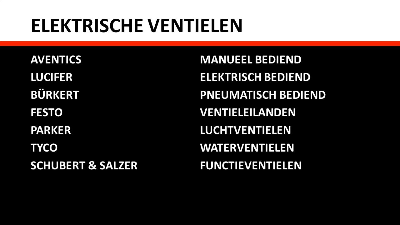 Pneumatica - Elektrische ventielen