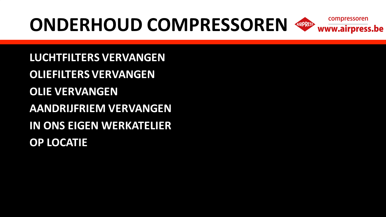 Services - Onderhoud Airpress-compressoren