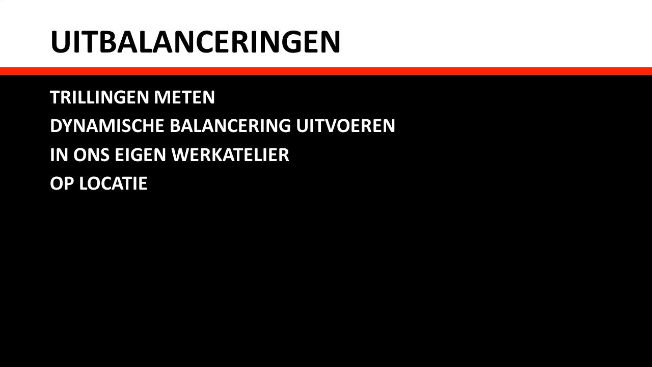 Services - Uitbalanceringen