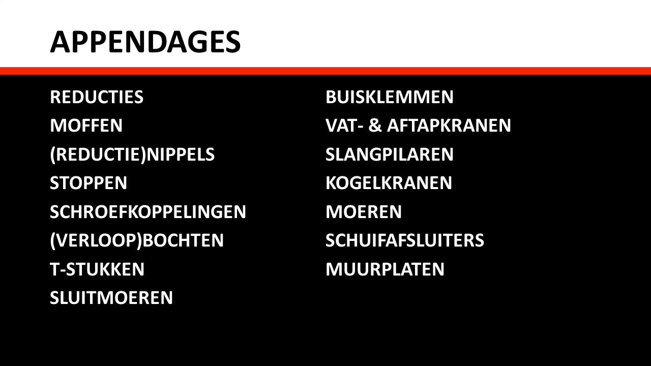 Slangen, Rubber, Kunststof & Wielen - Appendages