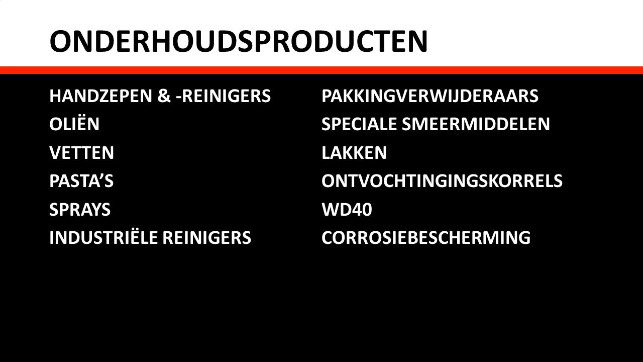 Technische onderhoudsproducten - Onderhoudsproducten